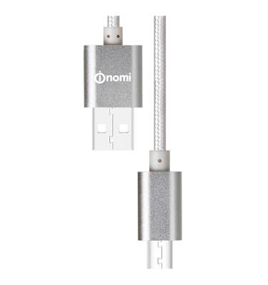 128668-Кабель-Nomi-DCM-10m-USB-micro-1м-срібний