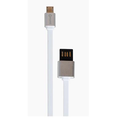 Кабель-Nomi-DCMD-10m-USB-micro-1м-біло-срібний