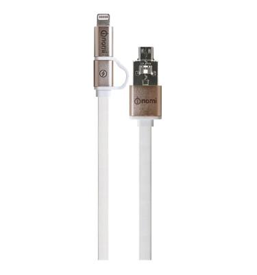 181734-Кабель-Nomi-DCDT-10mi-USB-micro&Lightning-1м-золотий