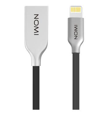 260729-Кабель-Nomi-DCMR-10i-USB-Lightning-1м-чорний