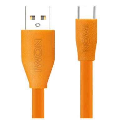 316203-Кабель-Nomi-DCF-10c-USB-Type-C-1м-помаранчевий