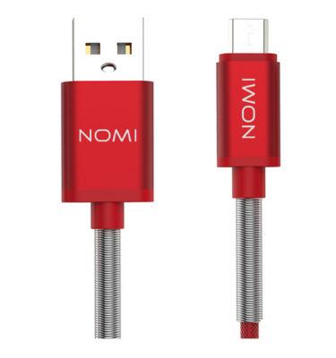 316211-Кабель-Nomi-DCMQ-10m-USB-micro-1м-червоний