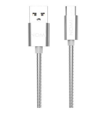 344281-Кабель-Nomi-DCWQ-10m-USB-micro-1м-срібний